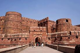 Agra Fort build of red sandstone in 1565