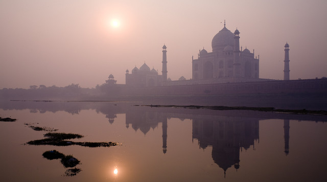 Taj Mahal from water